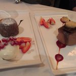 Chocolate mousse and soya ice cream