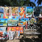 Paintings at the market