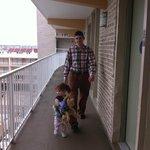 back balcony - the railings seemed a little too low - seemed a little unsafe for a little child