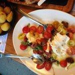 The most delicious tomato and buffalo mozzarella salad