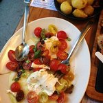 The most delicious tomato and buffalo mozzarella salad