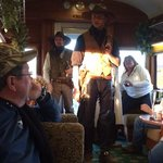 parlor car with the train robbers