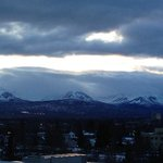looking to the North from downtown Anchorage.