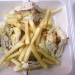 Turkey Club with French Fries