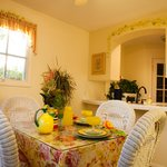 dining room of cottage