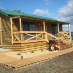 front view of riverview cabins