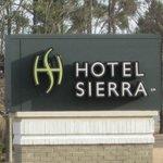 Hotel Sierra sign