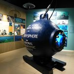 The Bathosphere in the permanent exhibit