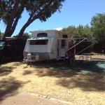 Drive through caravan site
