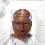 wooden sculpture: Head Study No 8 by Itmar Jobani