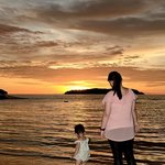 Sunset at Shangri-La beach