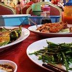 sting ray, veggie and prawns