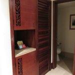 Closet and bathroom