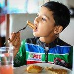 Breakfast, atlast it was easy to make my son eat !