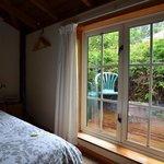 Outdoor sitting area off the loft bedroom