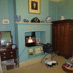 TV Area in a Unique Historic Feature