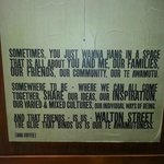 Sign on the wall - very true!