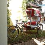 The Rickshaw inside