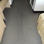 Carpet creep in the room corridor