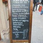 El Glop de la Rambla - menu del giorno