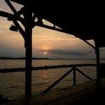 sunset illuminating the ocean