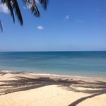 Whitesand beach calm and blue sky