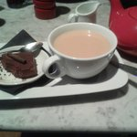 Double Chocolate Espresso Torta with a Pot of Tea :) yum
