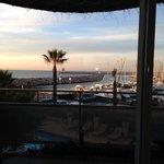 vue de la chambre sur le port