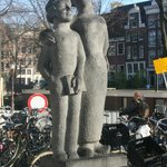 Statue in square just off the inner end of Westerstraat