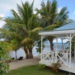 Terrasse d'un bungalow vue mer