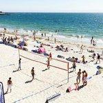 plage à coté du camping les sables blancs