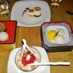Desserts at Nobu