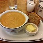 Wonderful soups at the Tea Room.