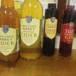 Abbey ciders & Gin. Good stuff!