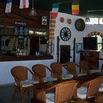 The inside of the pub