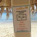 Предложения  освежающих напитков на пляже