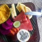 the breakfast fruit platter