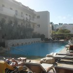 One of the many pools between accommodation blocks