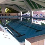 Great outdoor pool, clean, large and warm