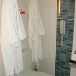Bathrobes and slippers provided in deluxe rooms