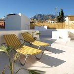chill on the rooftop terace azotea @ inhouse marbella hostal b&b