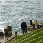 Beautiful backstage of Minack Theatre in Cornwall