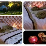 Winter Warm Feeling in your Yurt at pink Apple Glampsite