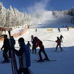 ski slope next to the hotel