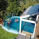 Vista de la piscina desde nuestro apart