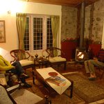 Fireside chat in the drawing room