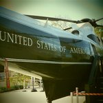 Marine 1 ... that flew him away from DC