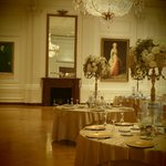 East Room Replica ... being set for wedding reception that evening