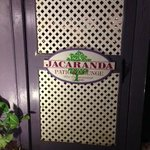 The Jacaranda Door to Patio