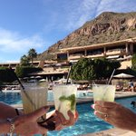 Out of the Polar Vortex into the sun at Phoenician pool.